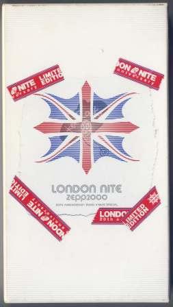 LONDON NITE ZEPP2000 20th ANNIVERSARY 2000 X'MAS SPECIAL